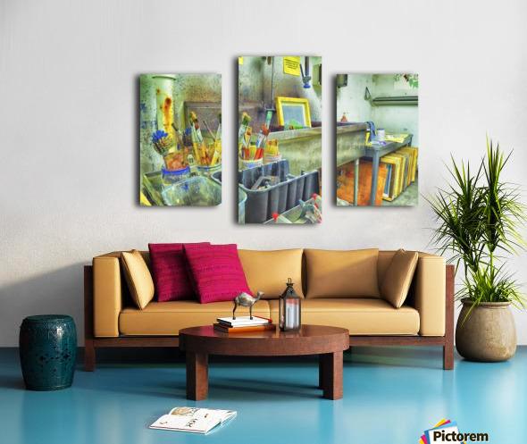 Paintbrushes Canvas print