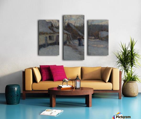 Snowy Landscape, Etaples Canvas print