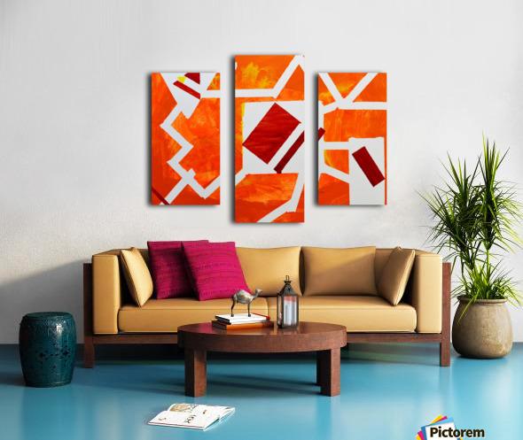 Geometric Orange. Jessica B Canvas print