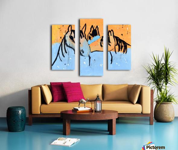 Horses.Davey K. Canvas print