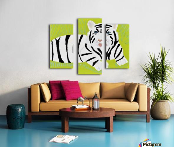 Jungle Warrior.Erin R. Canvas print