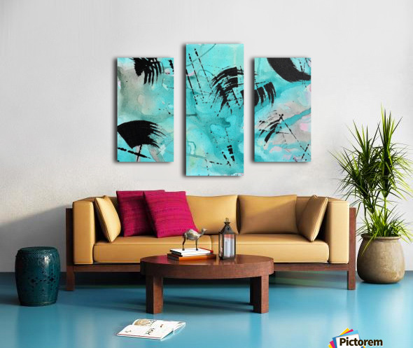 Abstract Watercolor. Geoffory E Canvas print
