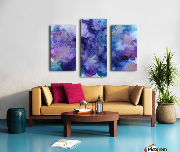 PURPLE CLOUDS Canvas print