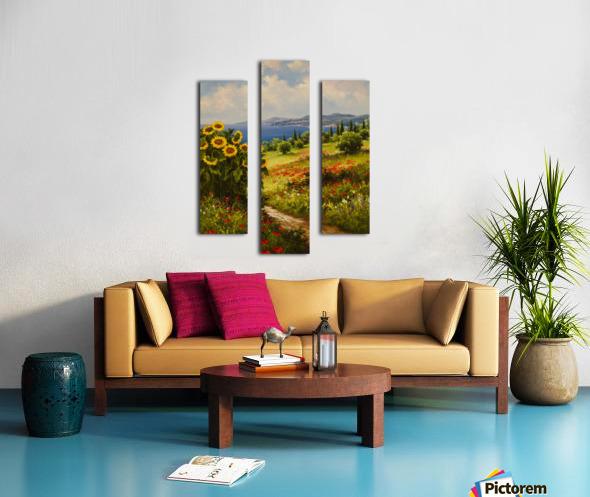 The Sunflower Grove Canvas print