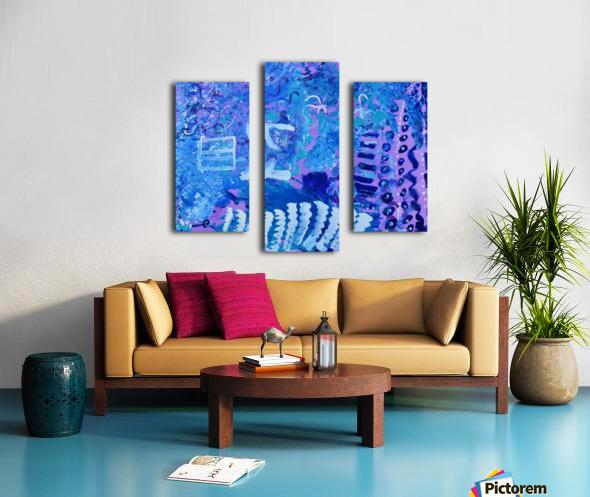 Blue Colab. Arts Education Artist Canvas print