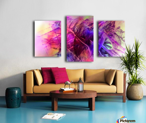COLORED GLASS Canvas print