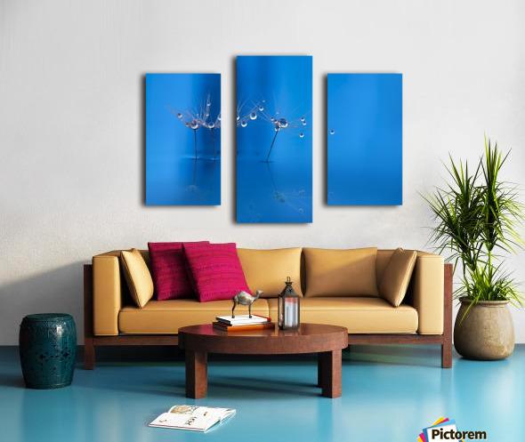 Blue fun Canvas print