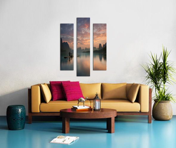 Li River Sunrise Canvas print