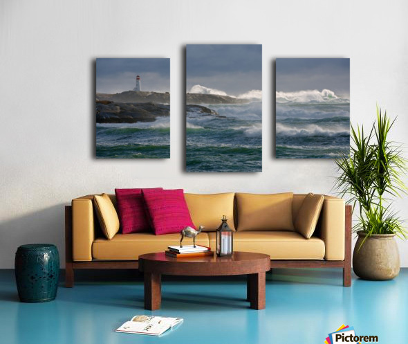 In the Protection of a Lighthouse Canvas print