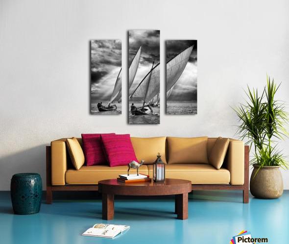 Sailboats and Light Canvas print