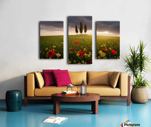 Blooming Tuscany Canvas print