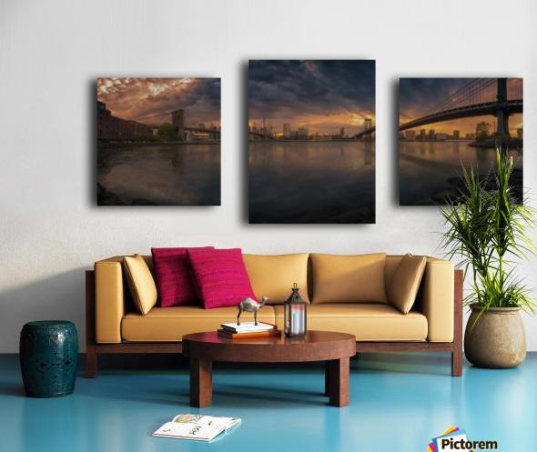 Between bridges Canvas print