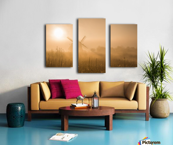 Golden Dawn. Canvas print