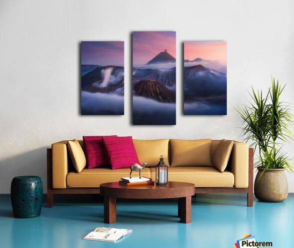 Bromo vs Semeru. Canvas print