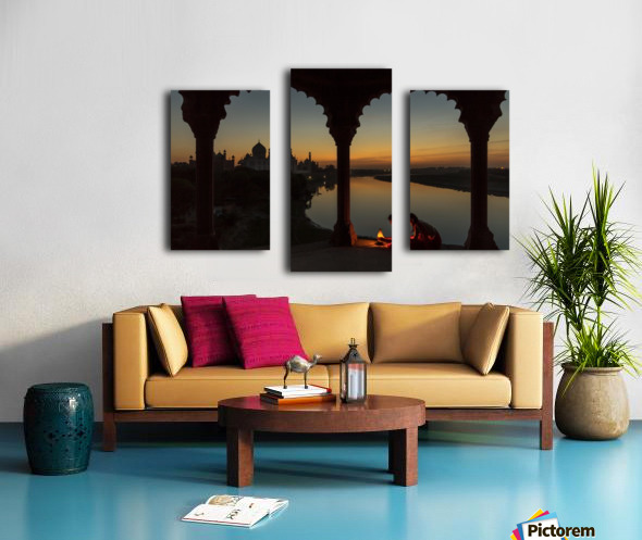 Illuminating the Taj Canvas print