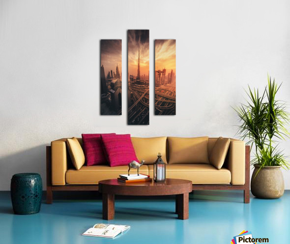 Dubai's Fiery sunset Canvas print