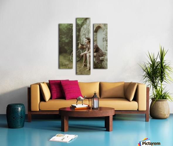 The wall game Canvas print