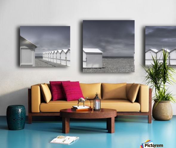 cabins beach Canvas print