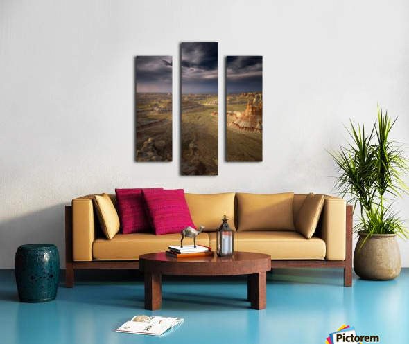 Storm in the distance Canvas print