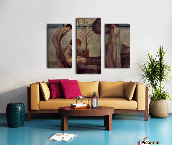 Life angel-1-by Giovanni Segantini Canvas print