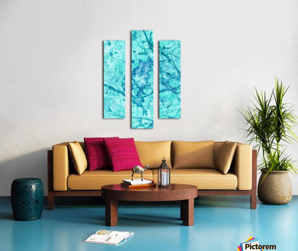 Turquoise Marble Canvas print