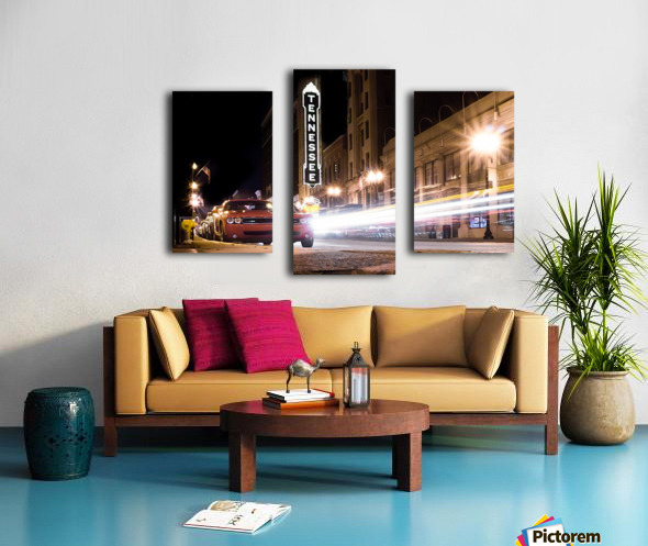 Tennessee Theater Color Canvas print