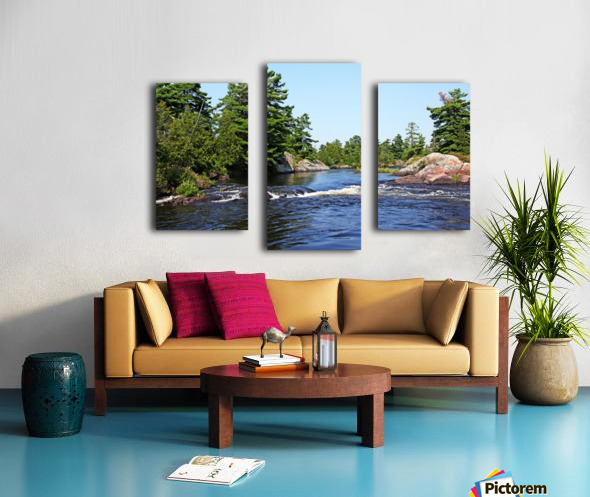 Lovers Rapids Lower French River Canvas print