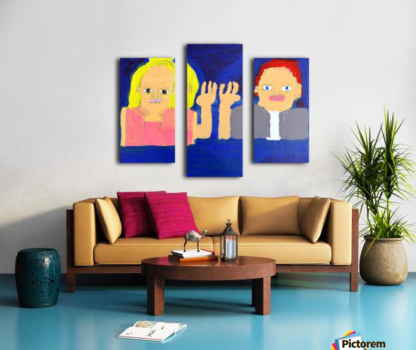 Freeze Frame High Five. Rick F. Canvas print