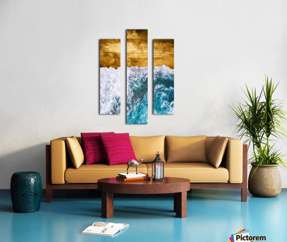 Tropical XVI - Golden Beach Canvas print