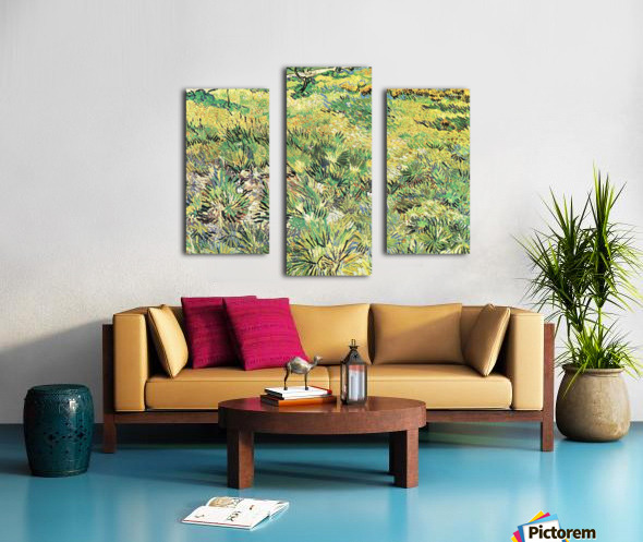 Meadow in the Garden of Saint-Paul Hospital by Van Gogh Canvas print