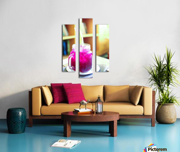 Herb juice. Canvas print