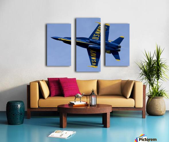 U.S. Navy flight demonstration squadron the Blue Angels. Canvas print