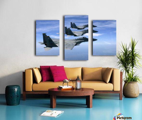 The F-15 Eagles final training mission over the the Atlantic Ocean. Canvas print