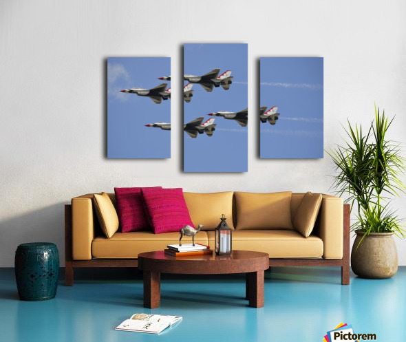The U.S. Air Force Thunderbirds fly in formation. Canvas print