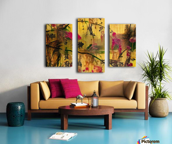 Oriental Painting. Japanese Style Canvas print