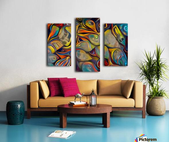 Seashell Colorful Pattern Canvas print