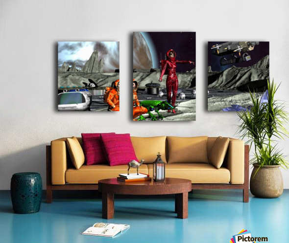 Survay Team Canvas print