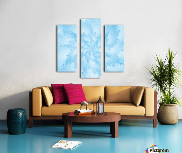 Blue Snowflake Spiral Canvas print