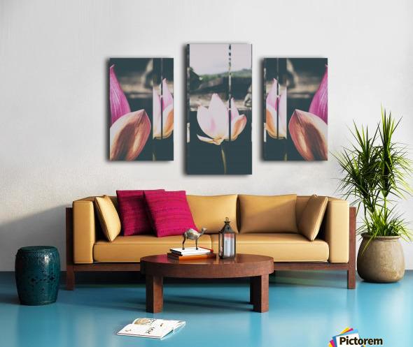 Pink Lotus Collage Canvas print