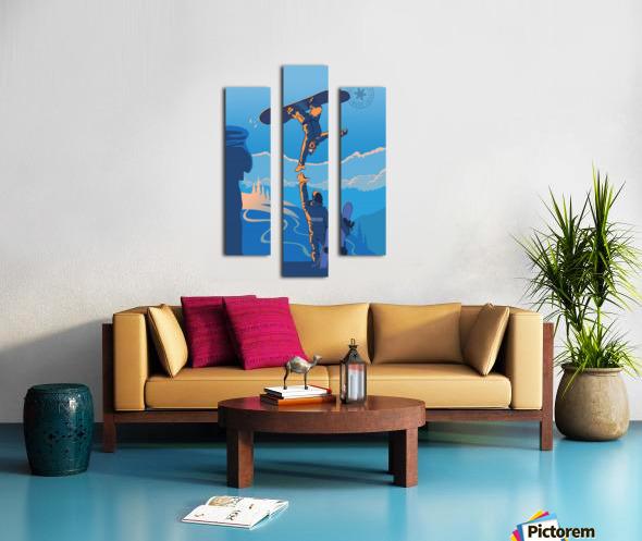 snowboard highfive Canvas print