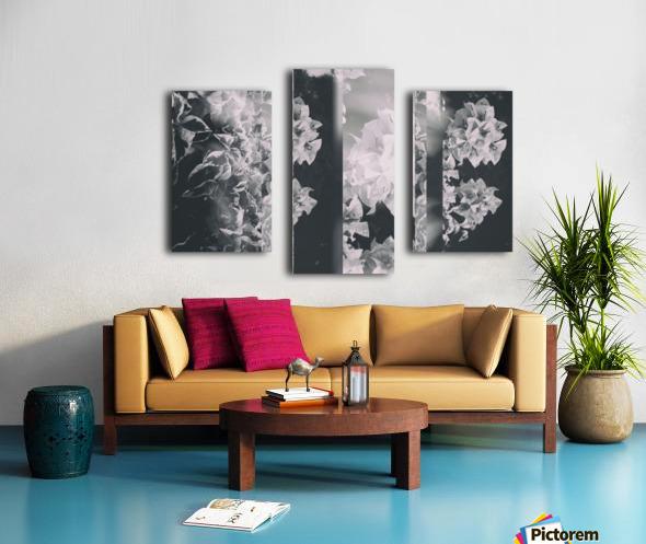 Bougainvillea Collage B&W Canvas print