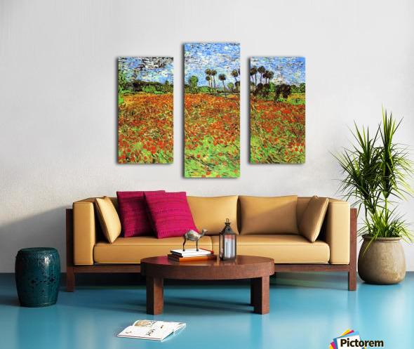 Poppy Fields by Van Gogh Canvas print