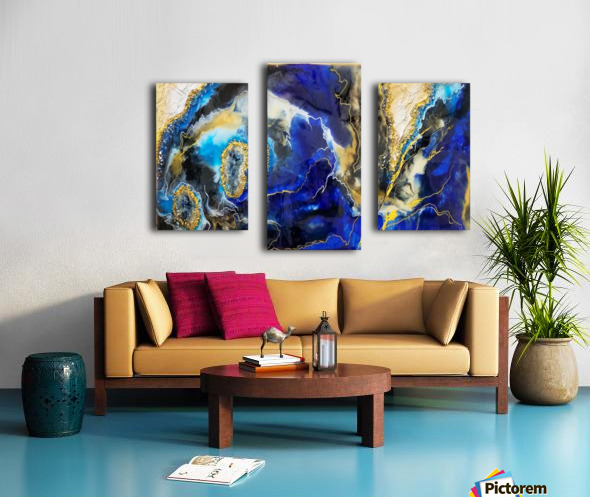Blue Map Canvas print