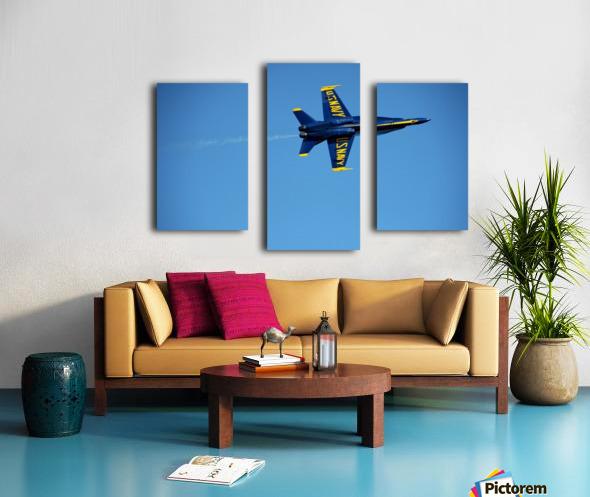 Single USN Blue Angel Flying Canvas print