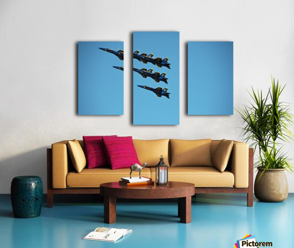 USN Blue Angels Formation Canvas print