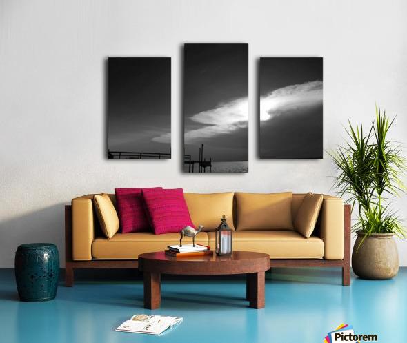 BW Stunning CLoud Sunset Canvas print