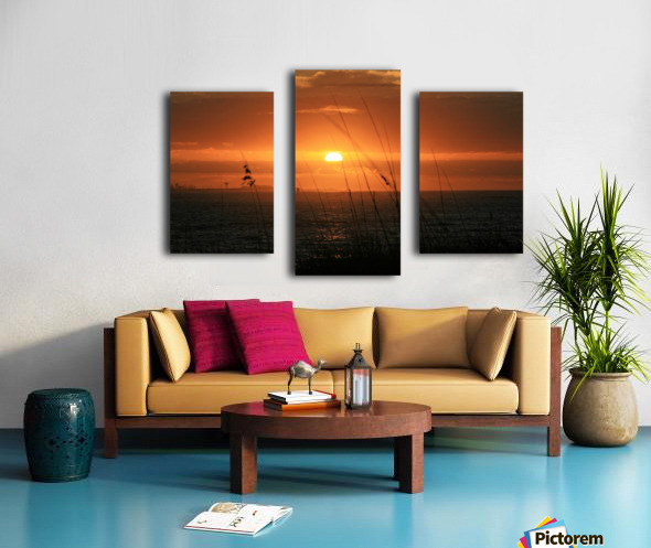 Sea Grass Sunset Canvas print