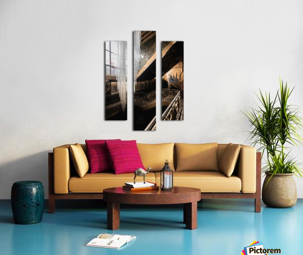 Abandoned Synagogue Icicle Chandelier Canvas print