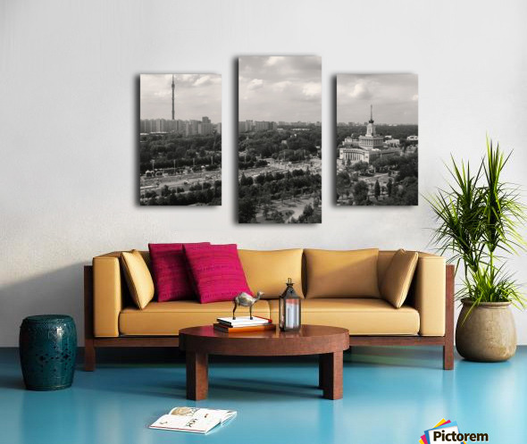 Moscow Air View I Canvas print