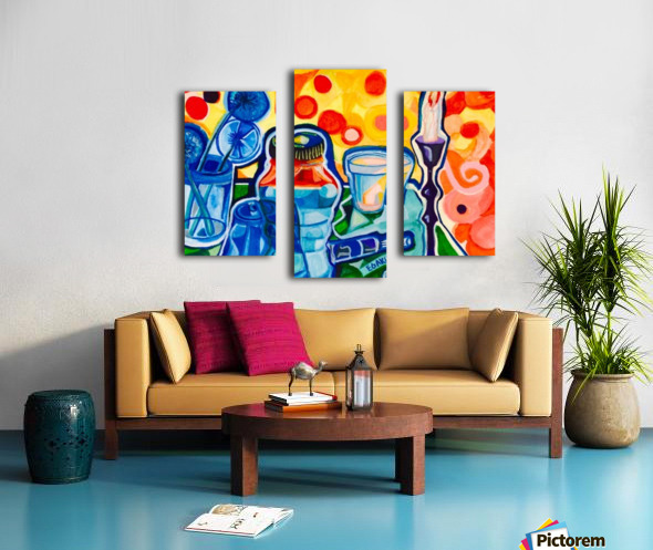 HALF EMPTY OR HALF FULL Canvas print